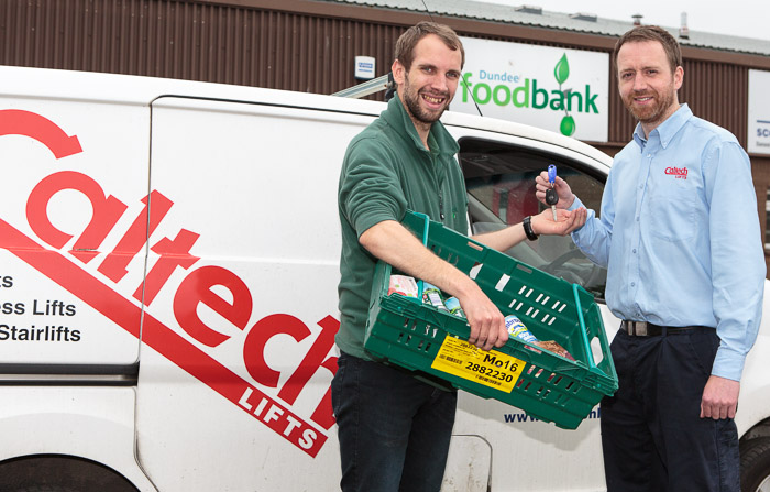 Client news – Caltech Lifts helps Dundee Foodbank keep meals moving & save cash