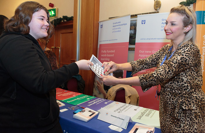Client News – 'You're inspired!' – Angus pupils and firms get Apprenticeships info at careers fair