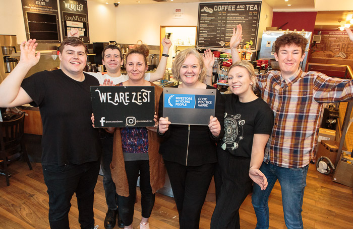 Client News – St Andrews cafe invests 2nd IIYP award plaque cash in more training