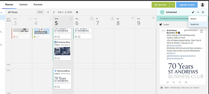 How to quickly copy and schedule a social post in Hootsuite